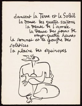 Untitled, pg. 66, in the book Le Poéme de l'angle droit by Edmond Jeanneret (Le Corbusier) (Paris: Tériade Éditeur, 1955)
