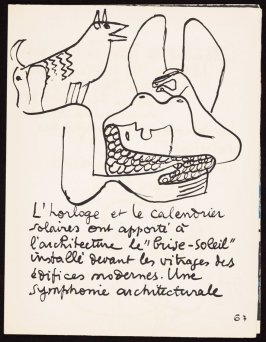 Untitled, pg. 67, in the book Le Poéme de l'angle droit by Edmond Jeanneret (Le Corbusier) (Paris: Tériade Éditeur, 1955)
