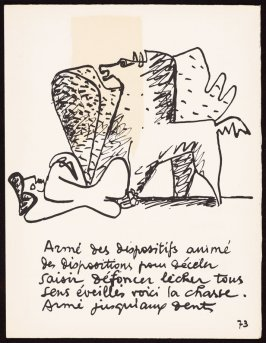 Untitled, pg. 73, in the book Le Poéme de l'angle droit by Edmond Jeanneret (Le Corbusier) (Paris: Tériade Éditeur, 1955)