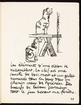 Untitled, pg. 75, in the book Le Poéme de l'angle droit by Edmond Jeanneret (Le Corbusier) (Paris: Tériade Éditeur, 1955)