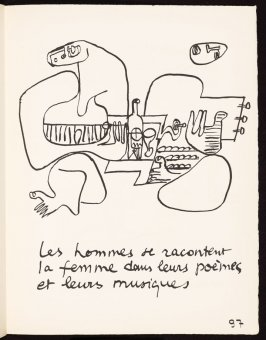 Untitled, pg. 97, in the book Le Poéme de l'angle droit by Edmond Jeanneret (Le Corbusier) (Paris: Tériade Éditeur, 1955)