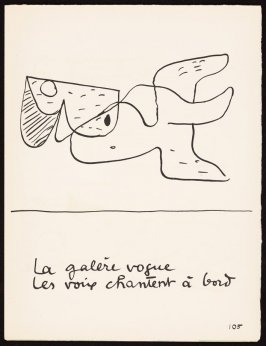 Untitled, pg. 105, in the book Le Poéme de l'angle droit by Edmond Jeanneret (Le Corbusier) (Paris: Tériade Éditeur, 1955)