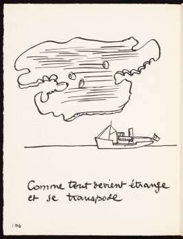 Untitled, pg. 106, in the book Le Poéme de l'angle droit by Edmond Jeanneret (Le Corbusier) (Paris: Tériade Éditeur, 1955)