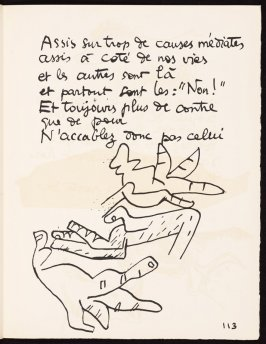 Untitled, pg. 113, in the book Le Poéme de l'angle droit by Edmond Jeanneret (Le Corbusier) (Paris: Tériade Éditeur, 1955)