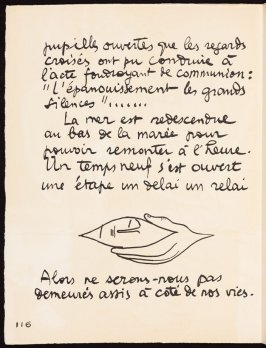 Untitled, pg. 116, in the book Le Poéme de l'angle droit by Edmond Jeanneret (Le Corbusier) (Paris: Tériade Éditeur, 1955)