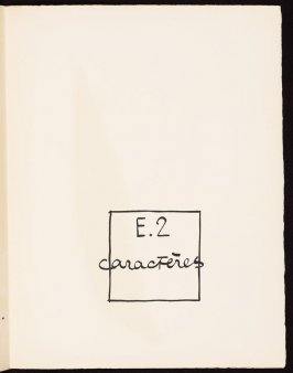 Untitled, pg. 119, in the book Le Poéme de l'angle droit by Edmond Jeanneret (Le Corbusier) (Paris: Tériade Éditeur, 1955)