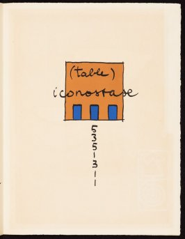 Untitled, pg. 153, in the book Le Poéme de l'angle droit by Edmond Jeanneret (Le Corbusier) (Paris: Tériade Éditeur, 1955)