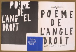 Frontispiece and Title page (double page), in the book Le Poéme de l'angle droit by Edmond Jeanneret (Le Corbusier) (Paris: Tériade Éditeur, 1955)