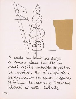 Untitled, pg. 52, in the book Le Poéme de l'angle droit by Edmond Jeanneret (Le Corbusier) (Paris: Tériade Éditeur, 1955)