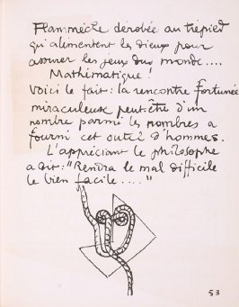 Untitled, pg. 53, in the book Le Poéme de l'angle droit by Edmond Jeanneret (Le Corbusier) (Paris: Tériade Éditeur, 1955)