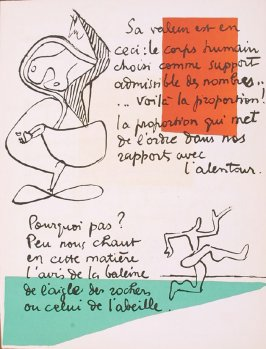Untitled, pg. 54, in the book Le Poéme de l'angle droit by Edmond Jeanneret (Le Corbusier) (Paris: Tériade Éditeur, 1955)