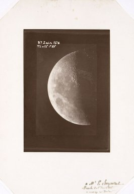 Photograph of the moon through a prism, June 27, 1876