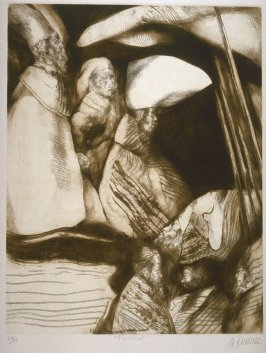 Funeral (Funeral), seventh plate in the portfolio, 21 Estampadores de Colombia, Mexico y Venezuela (21 Printmakers of Colombia, Mexico and Venezuela)