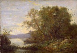 Landscape (girl in boat)