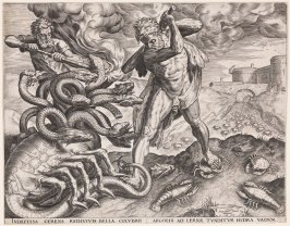 Hercules Killing the Lernean Hydra, pl. 5 from a set of Ten Labors of Hercules