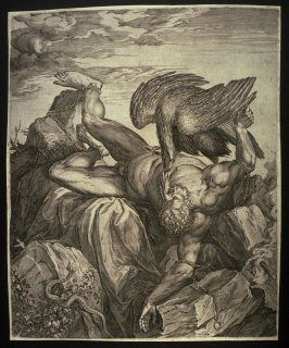 Tityus Punished in Hell (also known as Prometheus Chained to Mount Caucasus)
