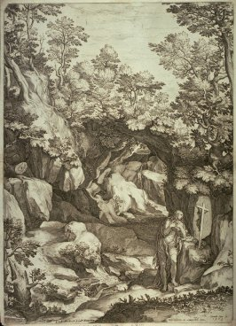 St. Mary Magdalene, penitent, in a large landscape