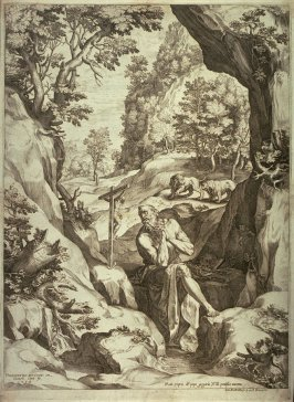 St. Jerome in a large landscape