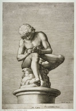 Classical Sculpture of Boy Drawing out a Thorn
