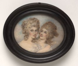 Double portrait of Countess of Chomondeley (Lady Giorgiana Charlotte Bertie) and her sister Lady Willoughby de Eresby