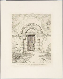 Plate 28: North Doorway of Our Lady's Chapel, Stourbridge, Cambridge, from the series 'Antiquities of St Mary's Chapel at Stourbridge near Cambridge'