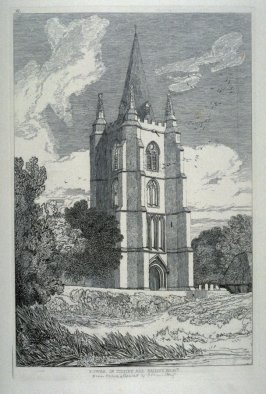 "Tower of Tilney All Saints Norfolk, plate 40 of ""Specimens of Castellated and Ecclesiastical Remains in the County of Norfolk"""