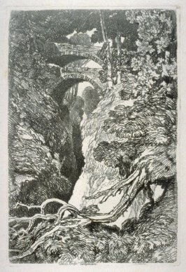 Devil's Bridge, Cardiganshire, plate 10 from Liber Studiorum