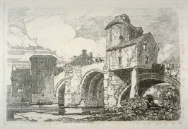 Monnour Bridge, Monmouth, plate 26 from Liber Studiorum