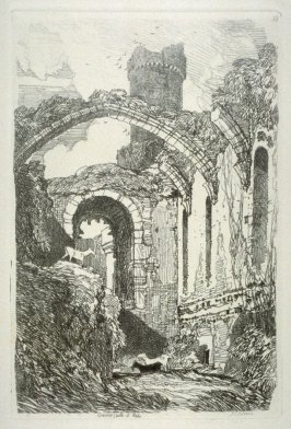 Conwy Castle, N. Wales, plate 33 from Liber Studiorum
