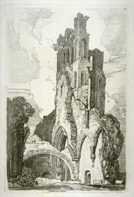 Planthony Abbey, plate 34 from Liber Studiorum