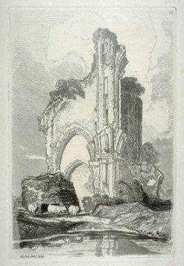 Wenlock Priory, Salop, plate 35 from Liber Studiorum