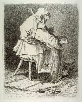 An Old Woman Warming her Hands, plate 44 from Liber Studiorum