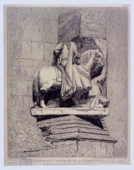 Statue of William Duke of Normandy, from the series 'Architectural Antiquities of Normandy'