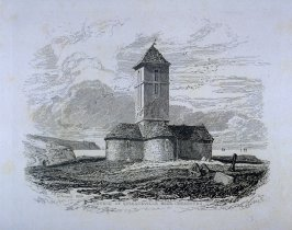 Church of Querqueville, Near Cherbourg, from the series 'Architectural Antiquities of Normandy'