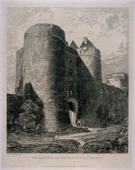 Entrance To The Castle At Tancarville, Near Cherbourg, from the series 'Architectural Antiquities of Normand'