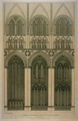 Cathedral Church of Notre Dame, at Seez, from the series 'Architectural Antiquities of Normandy'