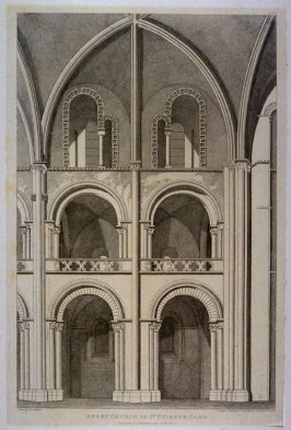 Abbey Church of St. Etienne, Caen, from the series 'Architectural Antiquities of Normandy'