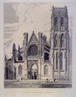 Church at St. Jacques, at Dieppe, from the series 'Architectural Antiquities of Normandy'