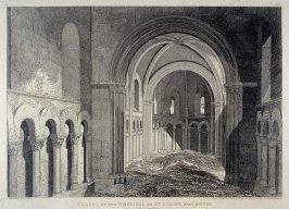Chapel of the Hospital of St. Julien, Near Rouen, from the series 'Architectural Antiquities of Normandy'