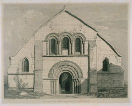 Church of Lery, Near Pont-De-L'Arche, from the series 'Architectural Antiquities of Normandy'