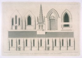 Church of the Church of Colomby near Valognes, from the series 'Architectural Antiquities of Normandy'