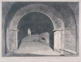 Crypt in the Church of St. Gervais at Rouen, from the series 'Architectural Antiquities of Normandy'