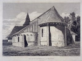 Church of St. Paul, from the series 'Architectural Antiquities of Normandy'