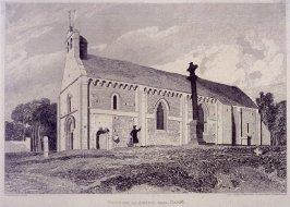 Church of Anisy, Near Caen, from the series 'Architectural Antiquities of Normandy'
