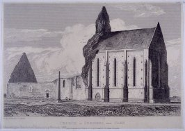 Church of Perriers, Near Caen, from the series 'Architectural Antiquities of Normandy'