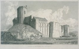 Castle of Briquebec, Near Valognes, from the series 'Architectural Antiquities of Normandy'
