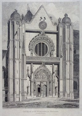 Church of St. Stephen, At Fecamp, from the series 'Architectural Antiquities of Normandy'