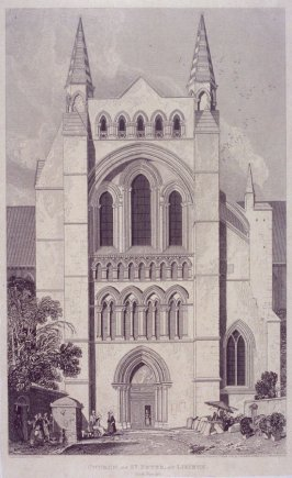 Church of St. Peter, At Lisieux, from the series 'Architectural Antiquities of Normandy'