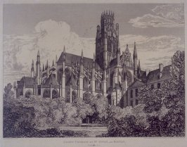 Abbey Church of St. Owen, at Rouen, from the series 'Architectural Antiquities of Normandy'
