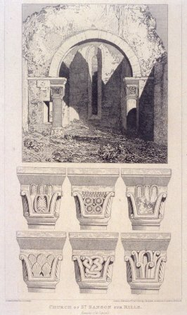 Church of St. Sanson sur Rille, from the series 'Architectural Antiquities of Normandy'